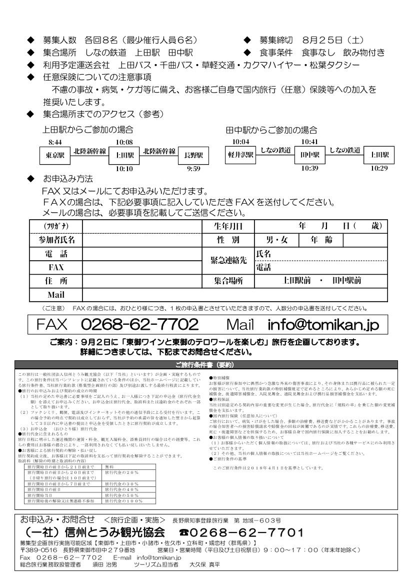 9.01ツアー(裏面)